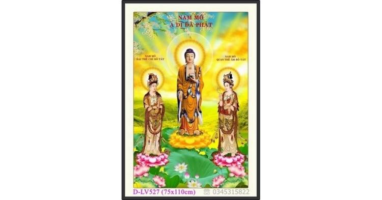 Tranh đính đá Tam Thế Phật - D-LV527 ❤️